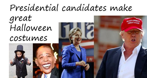 Presidential election candidates #trump #halloween #costumes  make great Halloween costumes