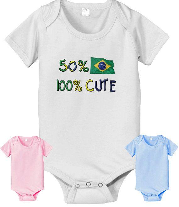 50 Brazilian 100 cute baby infant toddler by CustomTeesForTots, $14.25
