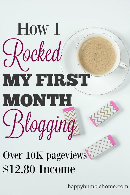 How I Rocked My First Month Blogging -- These ideas were super helpful to me!! My blog is off to a great start!