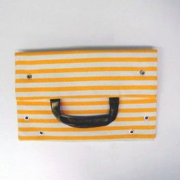 BOLSO RAYAS NARANJA, By EL PÁJARO INVISIBLE  Follow us: http://www.facebook.com/chicplace.es