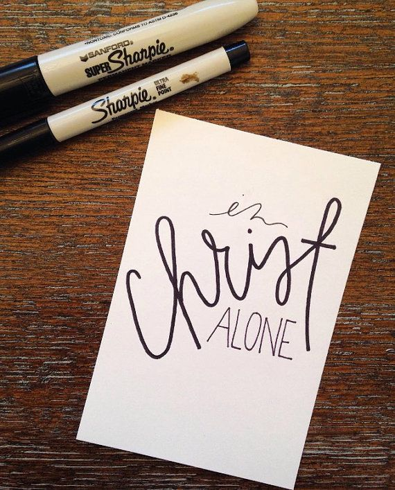 In Christ Alone by TaylorNorton on Etsy