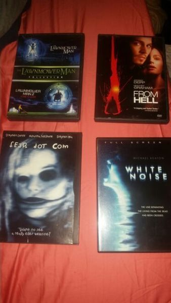Movie Lot Horror Films Scary ! The Lawnmower man, White noise & more!