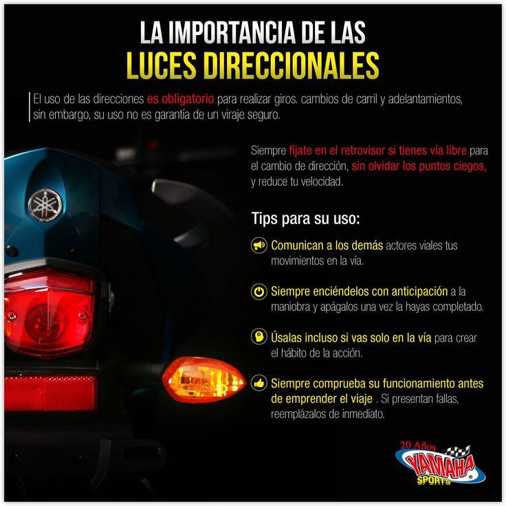 Las luces direccionales NO son un accesorio, son una parte fundamental de la moto para una correcta circulación en la vía. No es por evitarte comparendos, es para evitar accidentes en la vía. #SeguridadVial