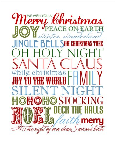 FREE Christmas Subway Art Print!