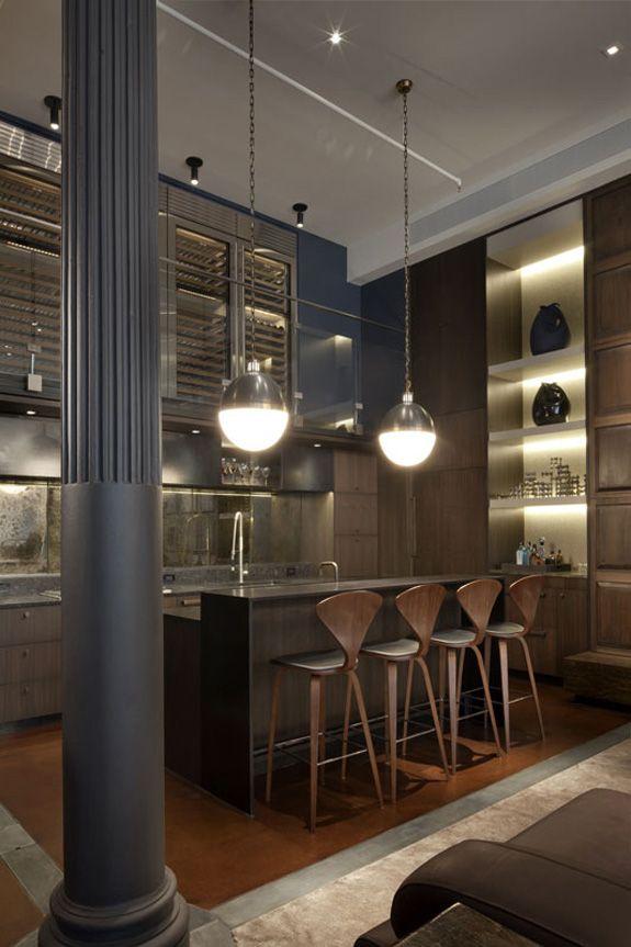 Les 36 meilleures images du tableau inspirations de for Cuisine moderne loft