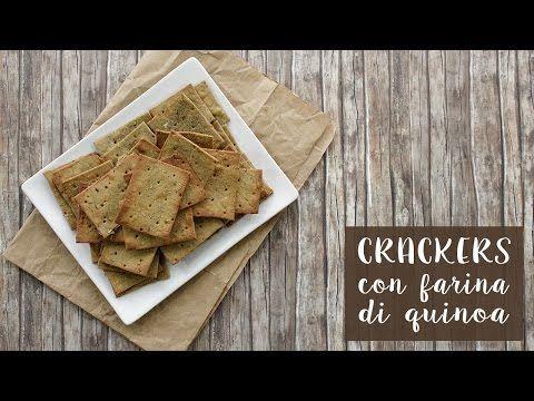 CRACKERS con farina di QUINOA (senza glutine + senza lievito) - YouTube