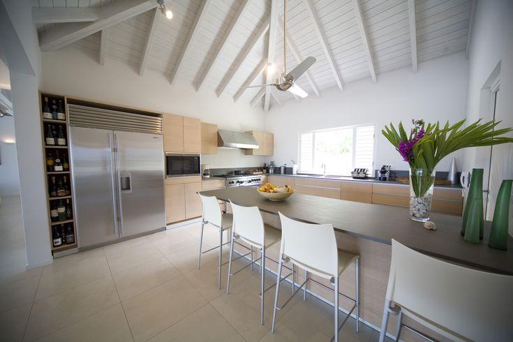 Kitchen of Capri luxury villa in Antigua, Caribbean