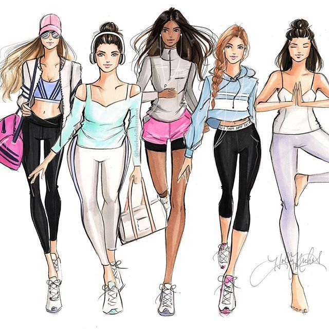 Active Girls - Holly Nichols Illustration