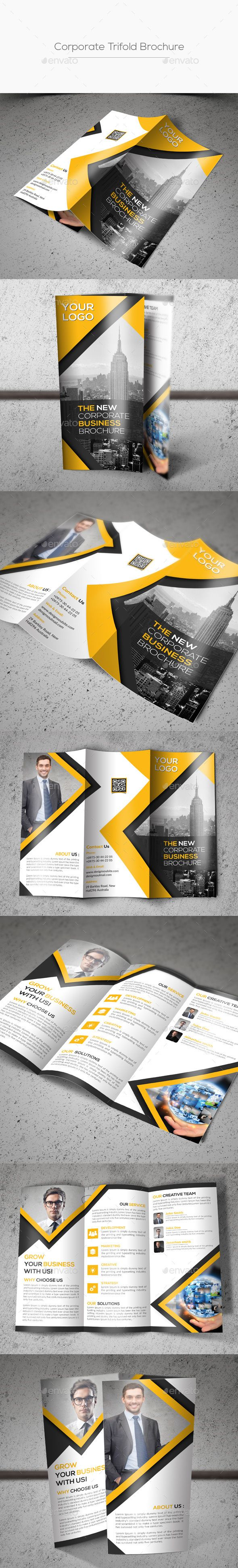 Corporate Trifold Brochure Template PSD #design Download: http://graphicriver.net/item/corporate-trifold-brochure/13906977?ref=ksioks