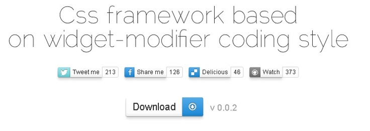 Css framework based on widget-modifier coding style