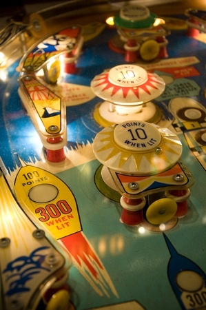 Pinball Detail I could play pinball for hours and hours just like the kids do nowadays with their Xboxes and electronic games etc.....