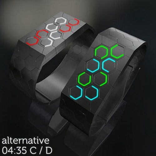 Hexagons LED Watch Concept