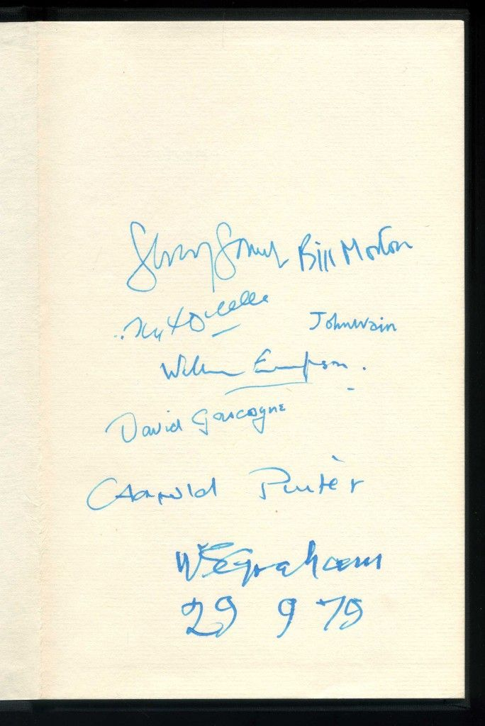 Poets - The Greville Press' first book, signed by William Empson, Harold Pinter, W S Graham, John Wain, David Gascoyne, John Heath-Stubbs and the publisher Geoffrey Godbert