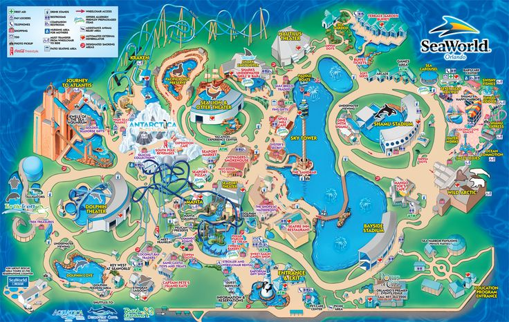 Karte von SeaWorld Orlando