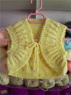 Baby Bolero - it's knitted, but still pretty!