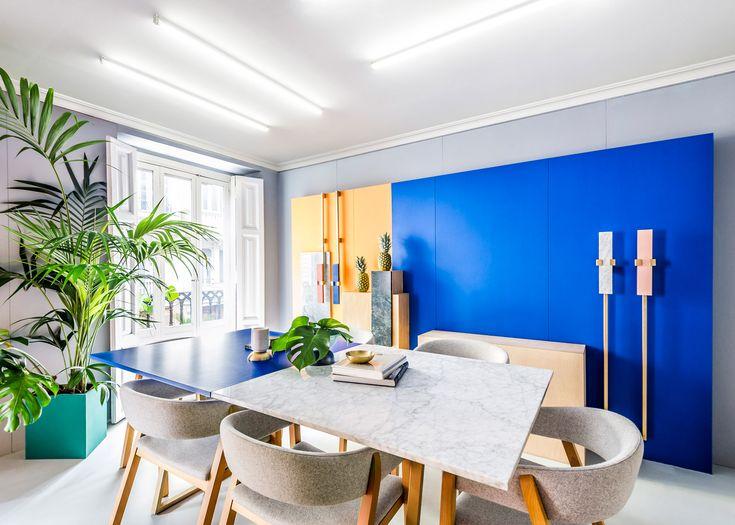 Masquespacio designs colourful interior and branding for its own Valencia studio.