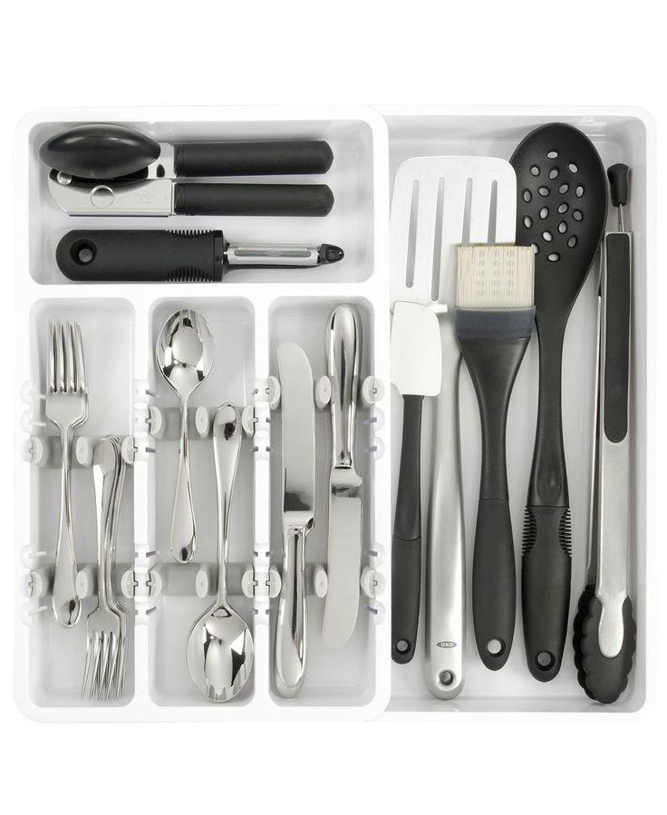 17 ideas about utensil organizer on pinterest kitchen for Creative silverware storage