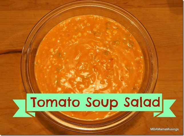 Tomato Soup Salad Made From Nordica Cottage Cheese An Old Family Classic