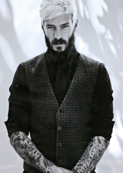 34 best images about well inked well dressed on for Bearded tattooed man