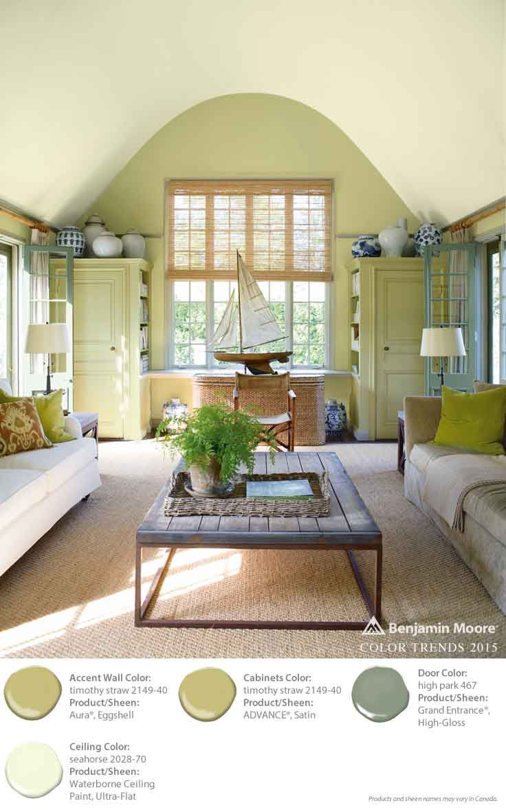 Benjamin moore color trends 2015 accent wall timothy - Benjamin moore interior paint colors ...
