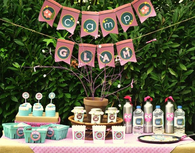 Kind of a fun idea- Troop Beverly Hills / glam camping party