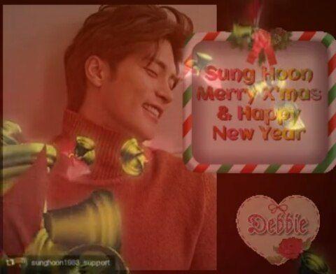 38 個讚,3 則留言 - Instagram 上的 Debbie Moh(@debbie_moh):「 #debbie_moh My post made for #SungHoon 💞💞💞 Merry X'mas & Happy New Year !!!🎄🎆 Sung Hoon Very Best… 」