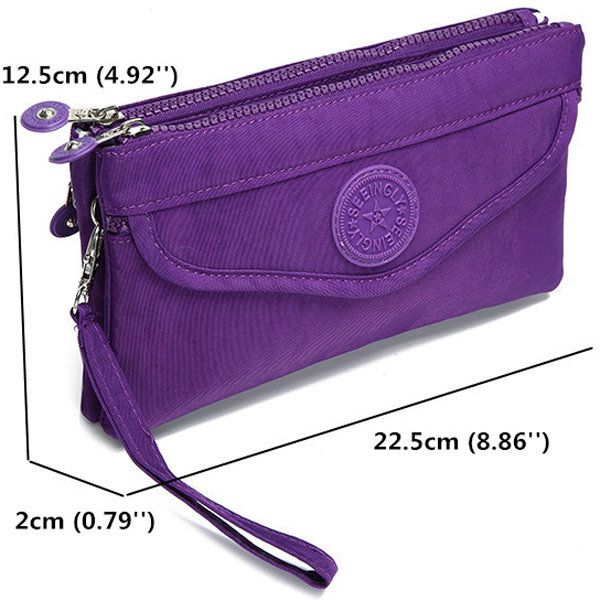 Women Nylon Cover Square Clutches Bags Phone Bags Travel Boarding Bags