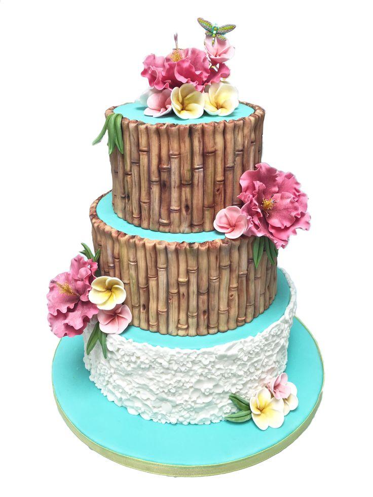 How amazing is this bamboo bake?! Made using Karen Davies Moulds, shop at C&C! / cake decorating / cake art / baking / cake / occasion cake