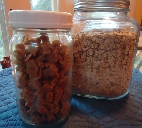 Homemade Butterscotch Chips.  This is EXACTLY what I've been looking for.  Goodbye hydrogenated junk, HELLO scotcheroos!!