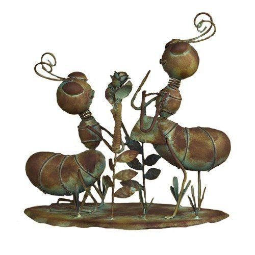 Ancient Graffiti Busy Metal Ants Looking At Flowers Outdoor Decor By Ancient  Graffiti. $24.00.