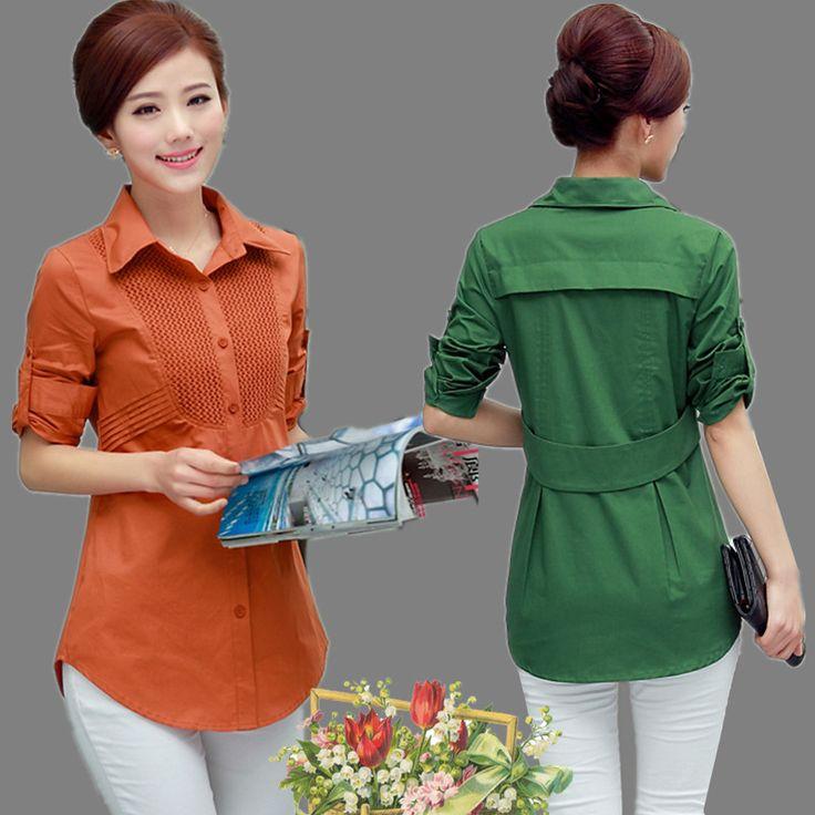 2015 году лето осень Новый корейский женский размер 30-40 молодых хлопок длинные рукава рубашки Блузки из категории Женские рубашки: цена, фото, отзывы, доставка – купить в интернет-магазине Купинатао