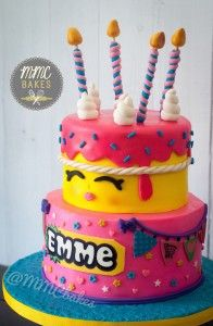 images about Fondant Birthday Cakes on Pinterest  Birthday cakes, San ...