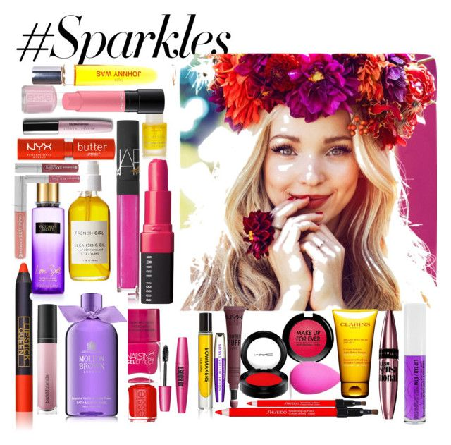 """""""#PolyPresents: Sparkly Beauty"""" by marilenagaouis ❤ liked on Polyvore featuring beauty, Bobbi Brown Cosmetics, MAKE UP FOR EVER, Nails Inc., Forever 21, beautyblender, NARS Cosmetics, Shiseido, Lipstick Queen and MAC Cosmetics"""
