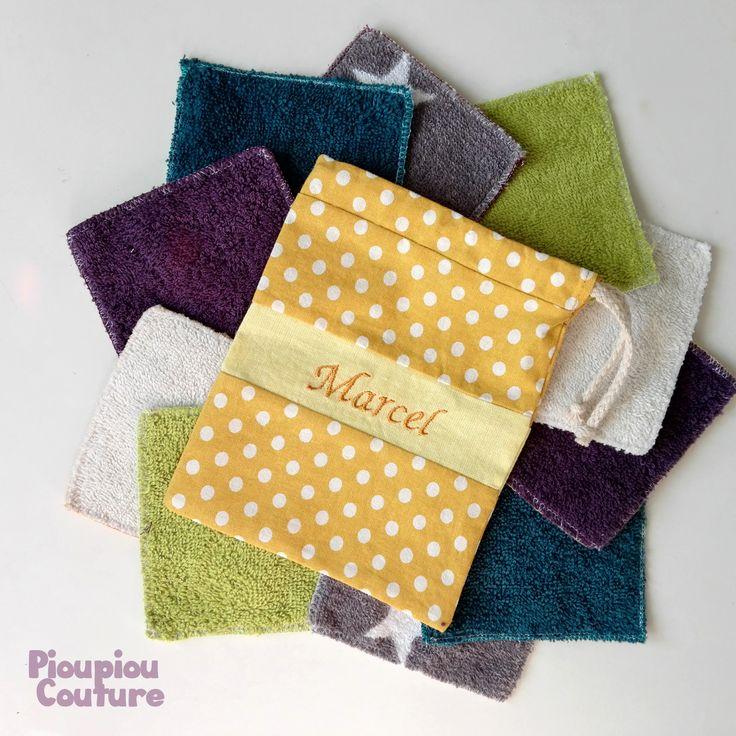Lingettes lavables classiques – Pioupiou Couture