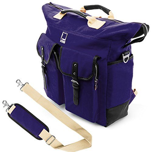 Lencca Universal Hybrid 3 in 1Design Carrying  Tote  Messenger  Crossbody  Backpack  Shoulder Bag for Apple Macbook Pro series 154  133 inch Mac OS X Laptop Royal Blue * Want additional info? Click on the image.