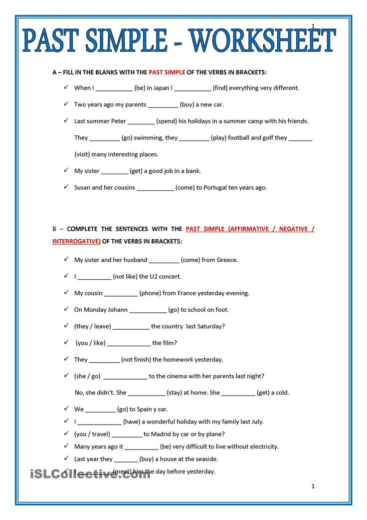 simple past tense exercises with answers pdf