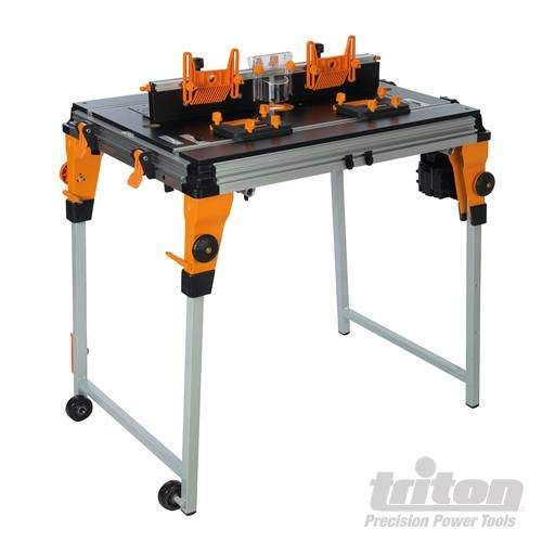 Triton 806839 Workcentre 7 Router Table Module Kit TWX7RTKIT Built-in mains isolator switch with knee-off function for connecting power tools