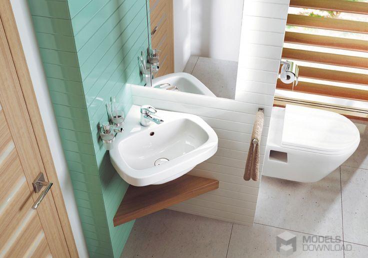 Każdy kąt ma znaczenie, kolorowy narożnik z umywalką | Deante