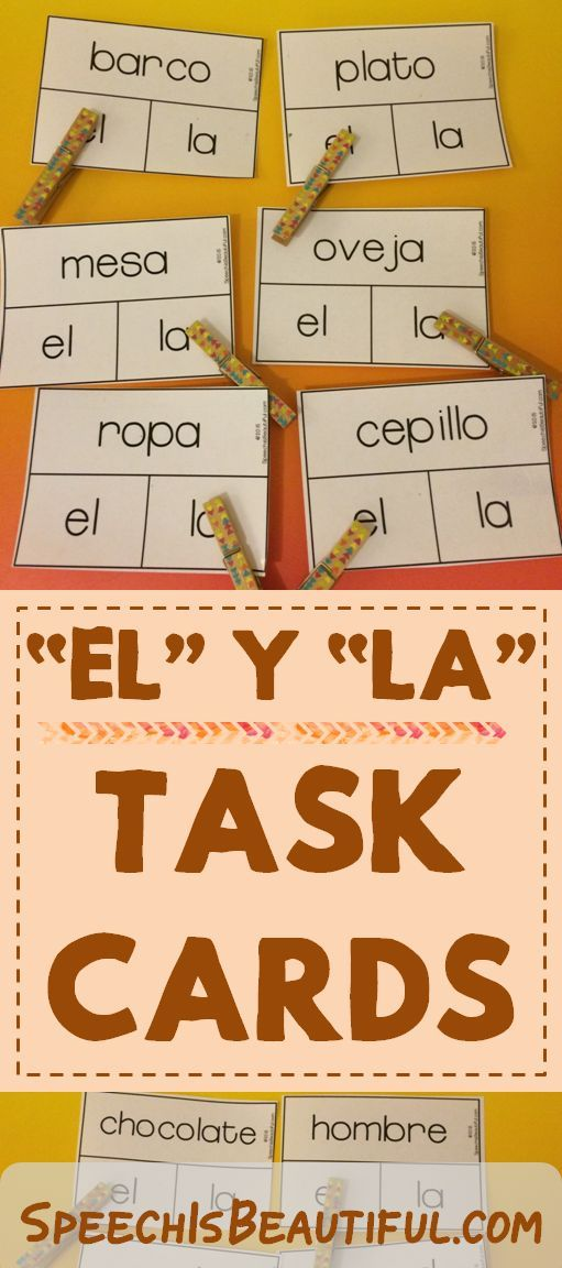 """This resource covers both regular and irregular articles -- have fun learning """"el"""" y """"la"""""""