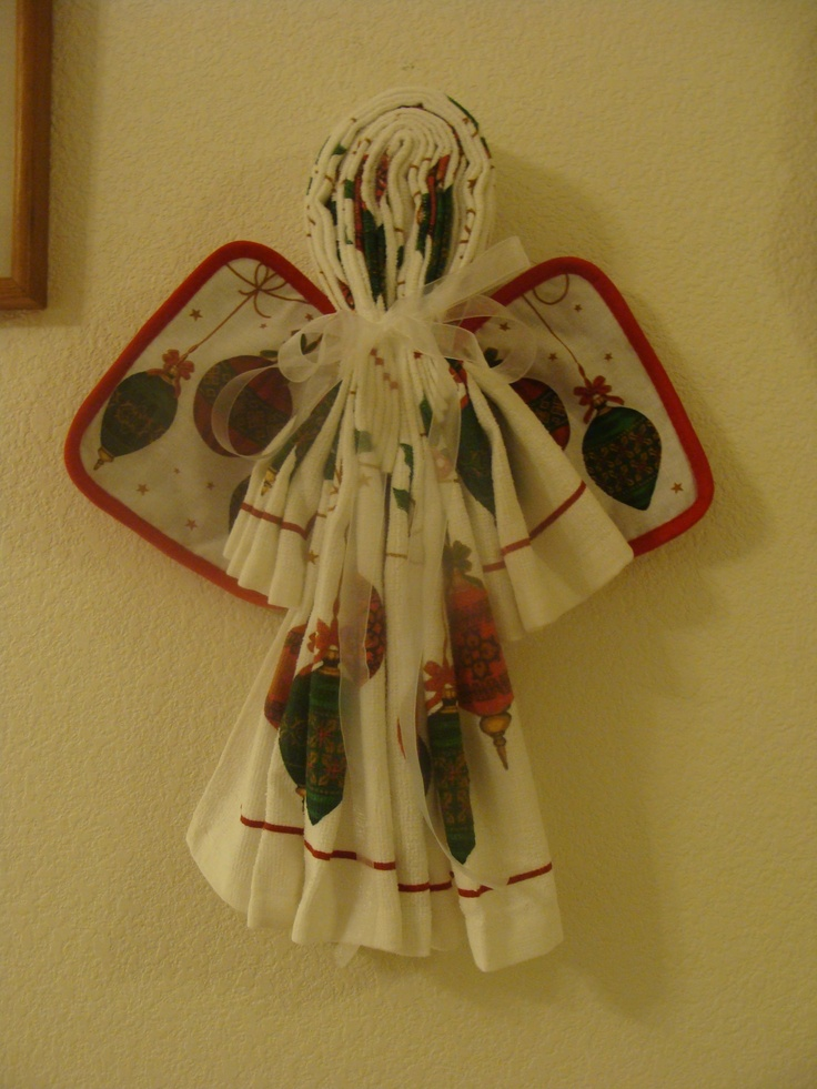 An Angel Kitchen Towels And Pot Holders My Own