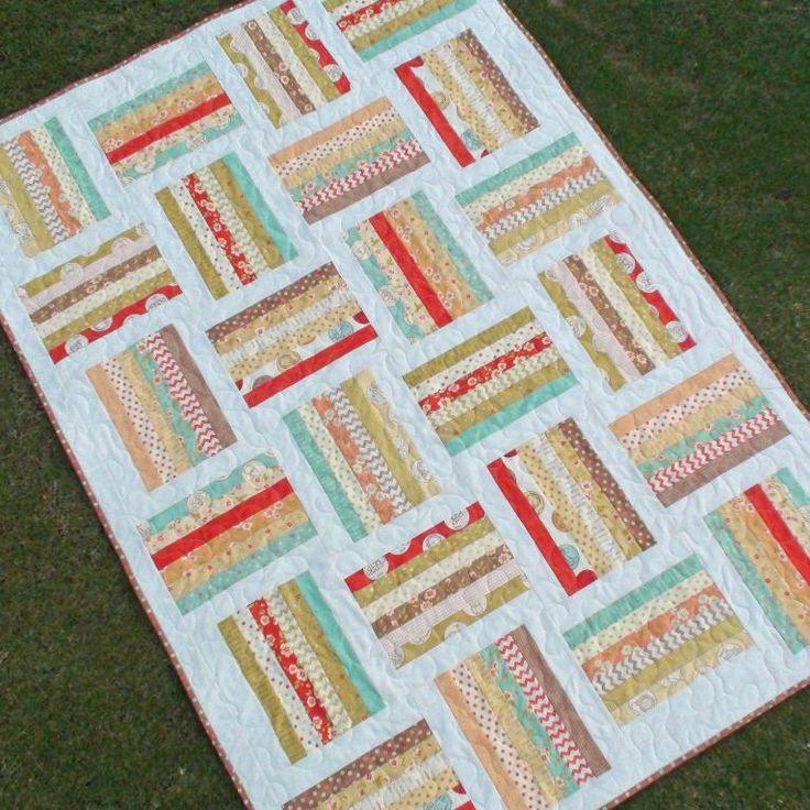 816 best Jelly Roll, Strip & Log Cabin Quilts images on Pinterest ... : sandwich quilt instructions - Adamdwight.com