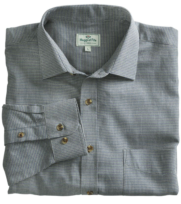 Houndstooth Pincheck Shirt by Hoggs of Fife | Casual Shirts for Men from Fife Country