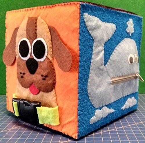 Cubo de Actividades 15x15 MODELO A, Juguete para bebés y niños, Juguete sensorial, Activity Cube, Hub, Vida práctica, Juego divertido, Juguete Educativo