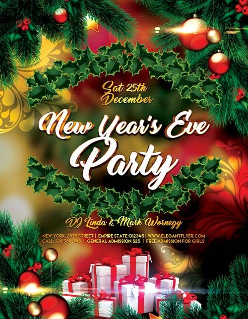 New Years Eve Party Free PSD Flyer Template - http://freepsdflyer.com/new-years-eve-party-free-psd-flyer-template/ Enjoy downloading the New Years Eve Party Free PSD Flyer Template created by Elegantflyer!   #Bash, #Christmas, #Club, #Dance, #Dj, #NewYear, #Nightclub, #Nye, #Party, #Xmas