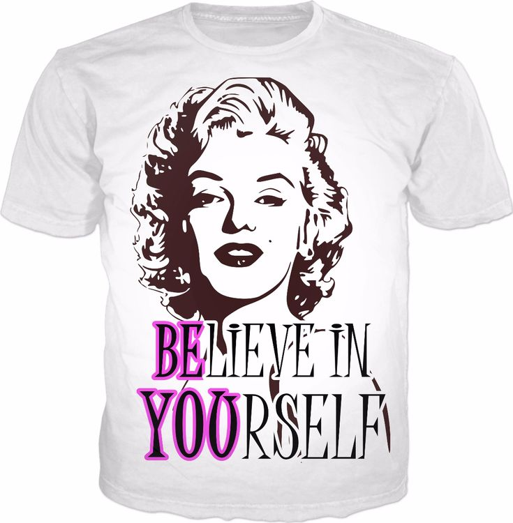 Believe In Yourself 'BE YOU' Quote made with love by the indie hippie x #marilyn #monroe #tee #inspirational
