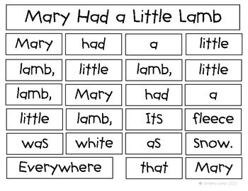 Nursery Rhymes Build a Poem~10 INSTANT literacy centers