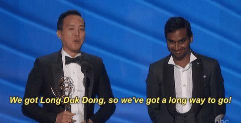9 Times the 2016 Emmys Celebrated Diversity Alan Yang and Aziz Ansari's Acceptance Speech