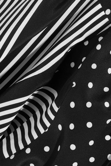 Black and white silk Concealed button fastenings through front 100% silk Dry clean