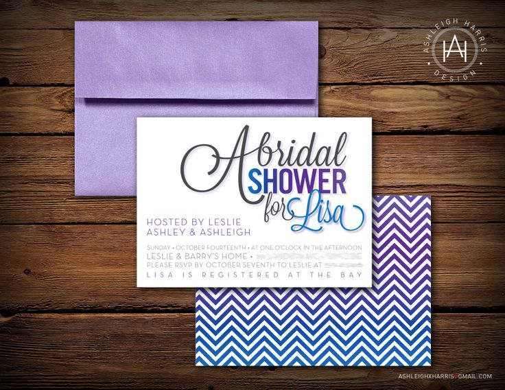 Custom bridal shower invite.  Please contact me at ashleighxharris[at]gmail[dot]com for any design work you may need! #wedding #weddinginvitations #custom #graphicdesign