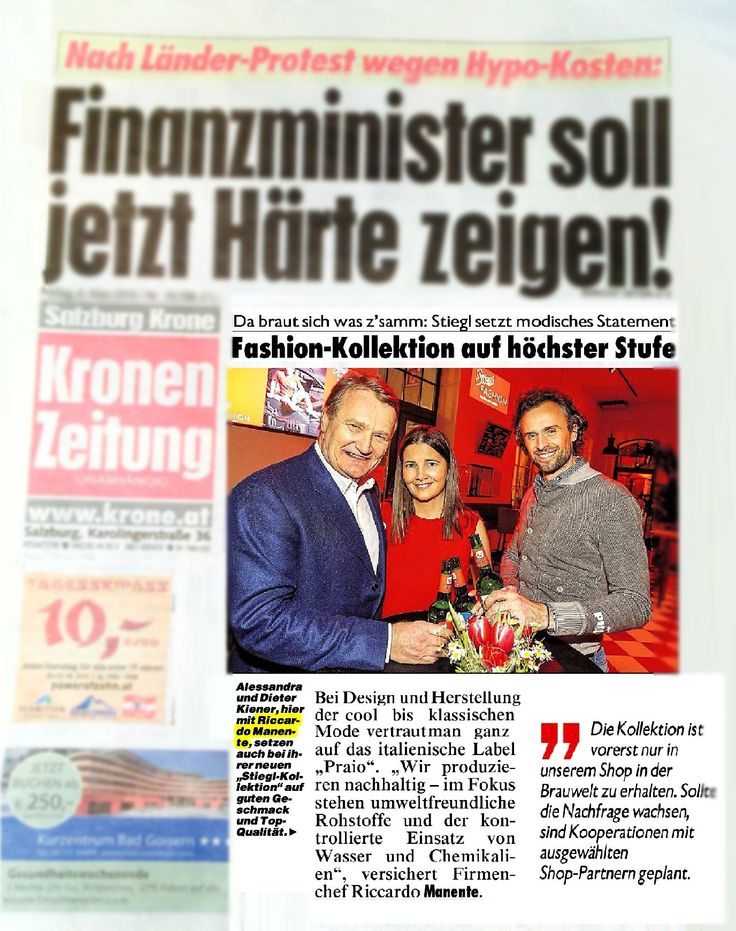 #Kronen #zeitung #austria #newspaper #salzburg #bigopening #fashionnews #thedayafter #praio #stiegl #partners